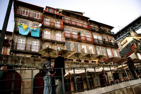 Ribeira, um dos cartões postais do Porto.